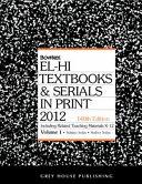 El Hi Textbooks Serials In Print 2012
