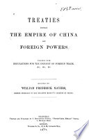 Treaties between the Empire of China and foreign powers Book