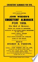 Wisden Cricketers' Almanack 1919