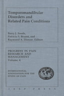 Temporomandibular Disorders and Related Pain Conditions Book