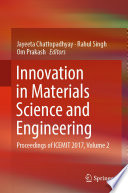 Innovation in Materials Science and Engineering Book