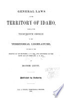 General Laws of the State of Idaho