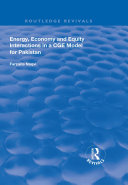 Pdf Energy, Economy and Equity Interactions in a CGE Model for Pakistan Telecharger