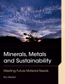 Minerals, Metals and Sustainability