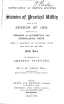 Statutes of Practical Utility Passed in