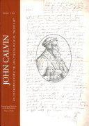 John Calvin  An introduction to his theological thought