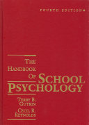 The Handbook of School Psychology Book