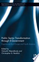 Public Sector Transformation Through E government