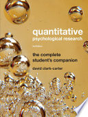 Quantitative Psychological Research The Complete Student S Companion 3rd Edition