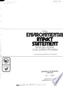 Final Environmental Impact Statement Proposed Federal Coal Leasing Program