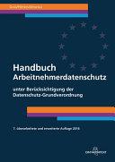 Gola/Wronka, Handbuch Arbeitnehmerdatenschutz