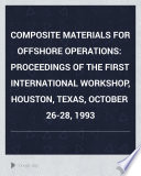 Composite Materials for Offshore Operations