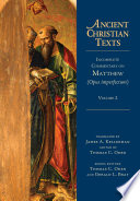 Incomplete Commentary On Matthew Opus Imperfectum  Book PDF