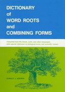Dictionary Of Word Roots