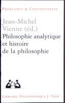 Philosophie analytique et histoire de la philosophie