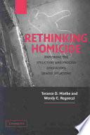 Rethinking Homicide Book