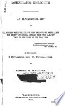 Nomenclator Zoologicus