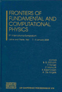 Frontiers of Fundamental and Computational Physics