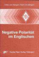 Negative Polarit  t im Englischen