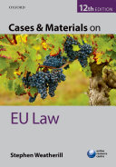 Cases and Materials on EU Law