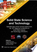 Solid State Science and Technology XXX Book