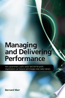 Managing and Delivering Performance Book
