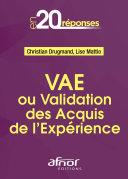 Pdf VAE ou Validation des Acquis de l'Expérience Telecharger