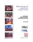 Biomass Energy and Biofuels from Oregon s Forests