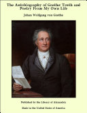 Pdf The Autobiography of Goethe: Truth and Poetry From My Own Life Telecharger
