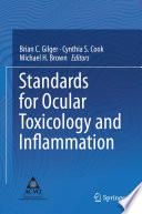 Standards For Ocular Toxicology And Inflammation Book PDF