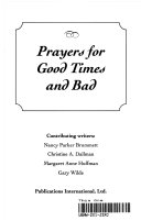 Prayers for Good Times and Bad