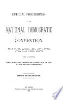 Official Proceedings of the National Democratic Convention