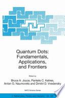 Quantum Dots Fundamentals Applications And Frontiers Book PDF