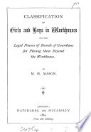 Classification of girls and boys in workhouses Book PDF