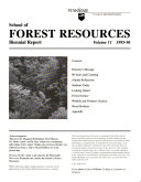 School of Forest Resources Biennial Report