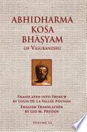 Abhidharmakosabhasyam Of Vasubandhu Vol Iii PDF