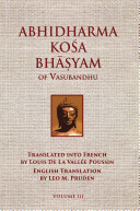 Abhidharmakosabhasyam of Vasubandhu   Vol  III