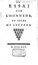 Essai sur l'honneur, en forme de lettres