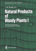 Natural products of woody plants Book