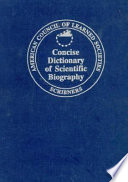 Concise Dictionary of Scientific Biography