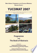 Programme and The Book of Abstracts / Ninth Annual Conference YUCOMAT 2007