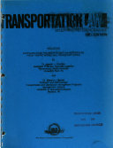 Transportation Law  Study and Reference Guide