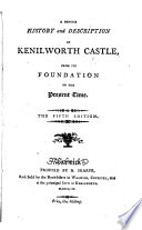 A Concise History And Description Of Kenilworth Castle The Fifth Edition With A Plan