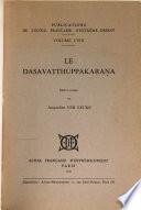 Le Dasavatthuppakaraṇa