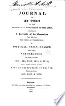 Journal of an Officer in the Commissariat Department of the Army