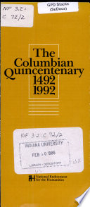 The Columbian Quincentenary  1492  1992