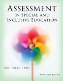 Assessment in Special and Inclusive Education Book