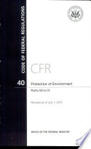 Code of Federal Regulations  Title 40  Protection of Environment  PT  50 51  Revised as of July 1  2012
