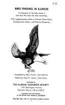 Bird Finding in Illinois Book