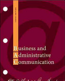 Loose leaf Business and Administrative Communication Book